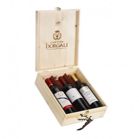 Cofanetto in legno 3 bottiglie - D53, Hortos, Nùrule