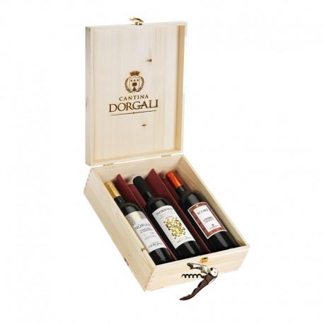 Cofanetto in legno 3 bottiglie - Nùrule, Noriolo, Icorè